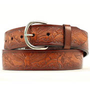 Eagle Brown Leather Belt