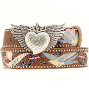 Tattoo Embroid Leather Belt