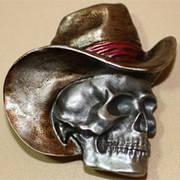 Cowboy hat & skull