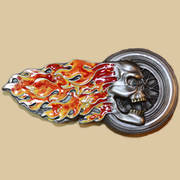 Flaming Skull Buckle