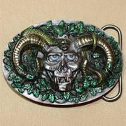 Skull Horns & Snake