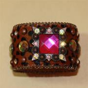 Bracelet Leather Charm