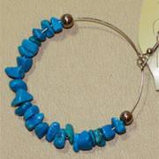 Earring Stone Hoop Blue