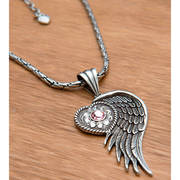 Necklace Heart Wing