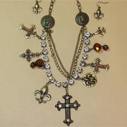 Set Chain Charm Cross GD
