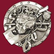 Подвеска Dead King Pendant Silver Plate