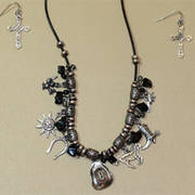 Ожерелье Set Western Charms Black