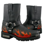 Harness Flame Motorcycle Boot