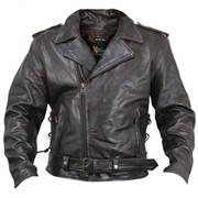 Armored Distressed Biker Jacket
