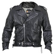 Кожаная мотокуртка Black Leather Classic Biker