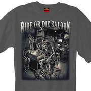 Футболка для байкеров Ride or Die Saloon