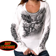 Ladies Angel Statue Scoopneck