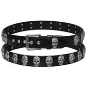 Ремень Leather Belt Skull Medallions